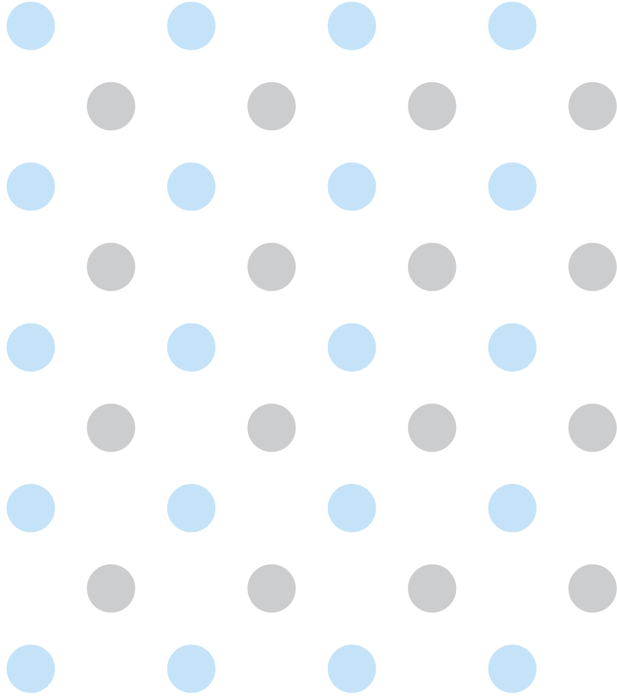 "Nursery Flannel Fabric 43""-Happy Dots Blue"