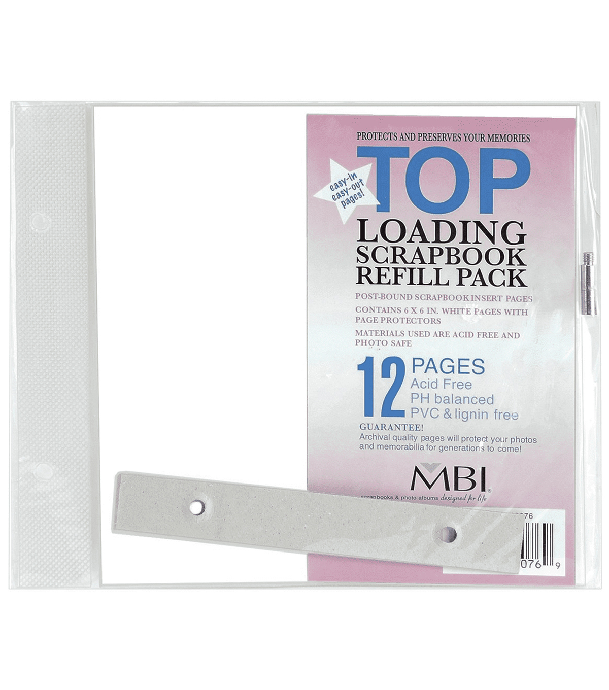 "6""x6"" Top-Loading Page Protectors-6PK"