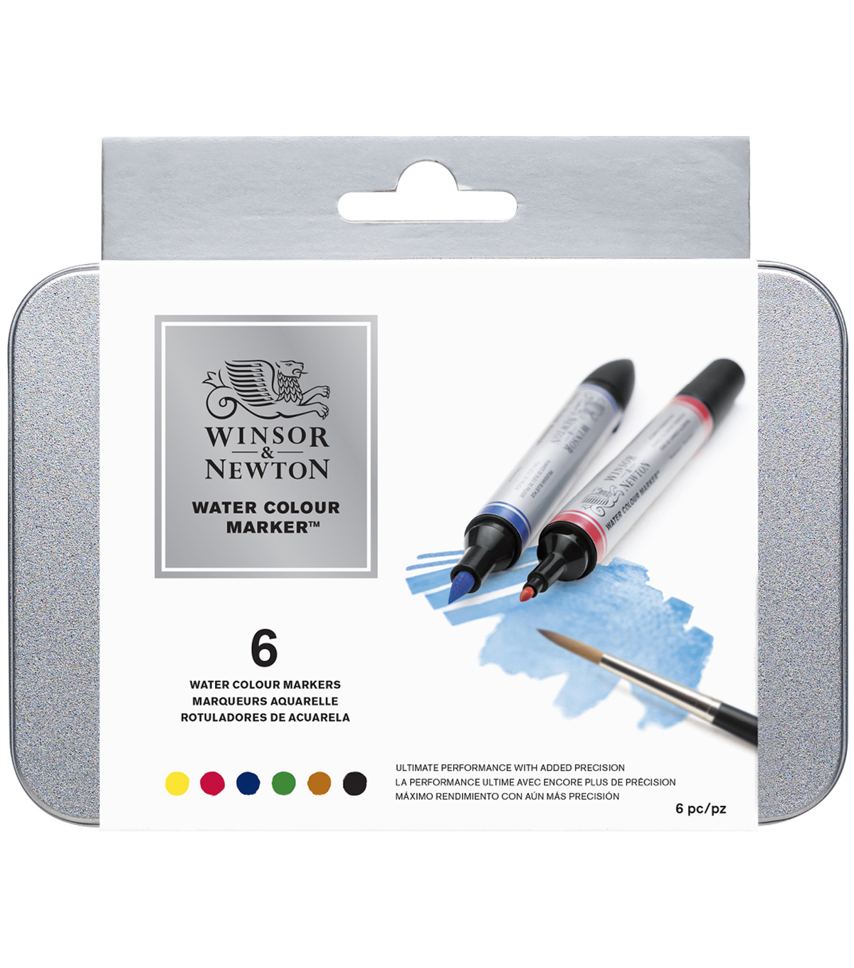 Winsor & Newton Watercolor Marker Set 6 pcs