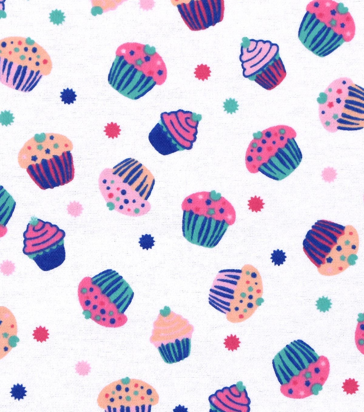 Snuggle Flannel Fabric 42\u0022-Yummy Cupcakes