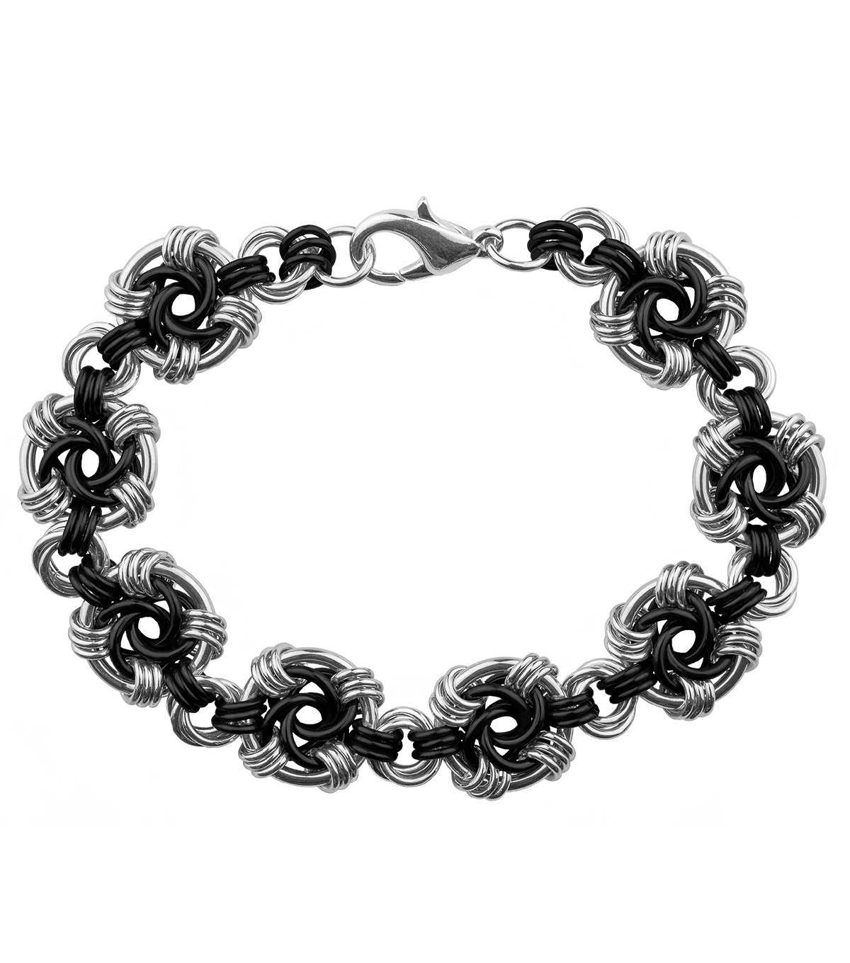 Weave Got Maille Swirls Chainmaille Bracelet Kit-Onyx