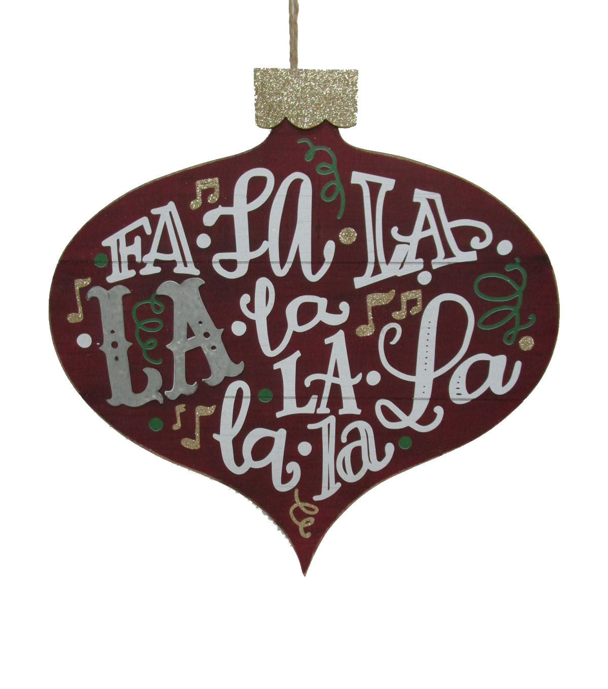 Maker\u0027s Holiday Christmas Ornament Shaped Wall Decor-Fa La