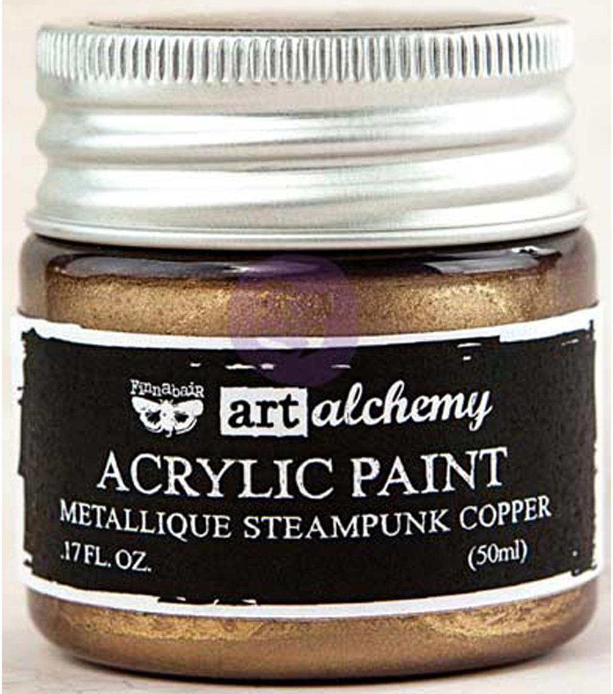 Prima Marketing Art Alchemy Acrylic Paint-Metallique Steampunk Copper