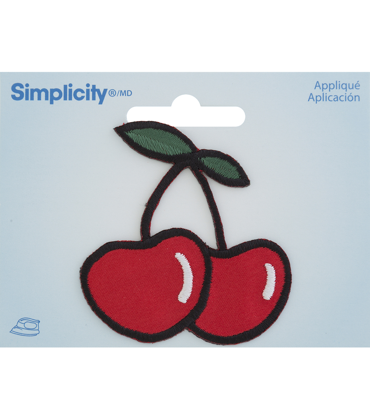 Simplicity® Embroidered Iron-On Applique-Cherry