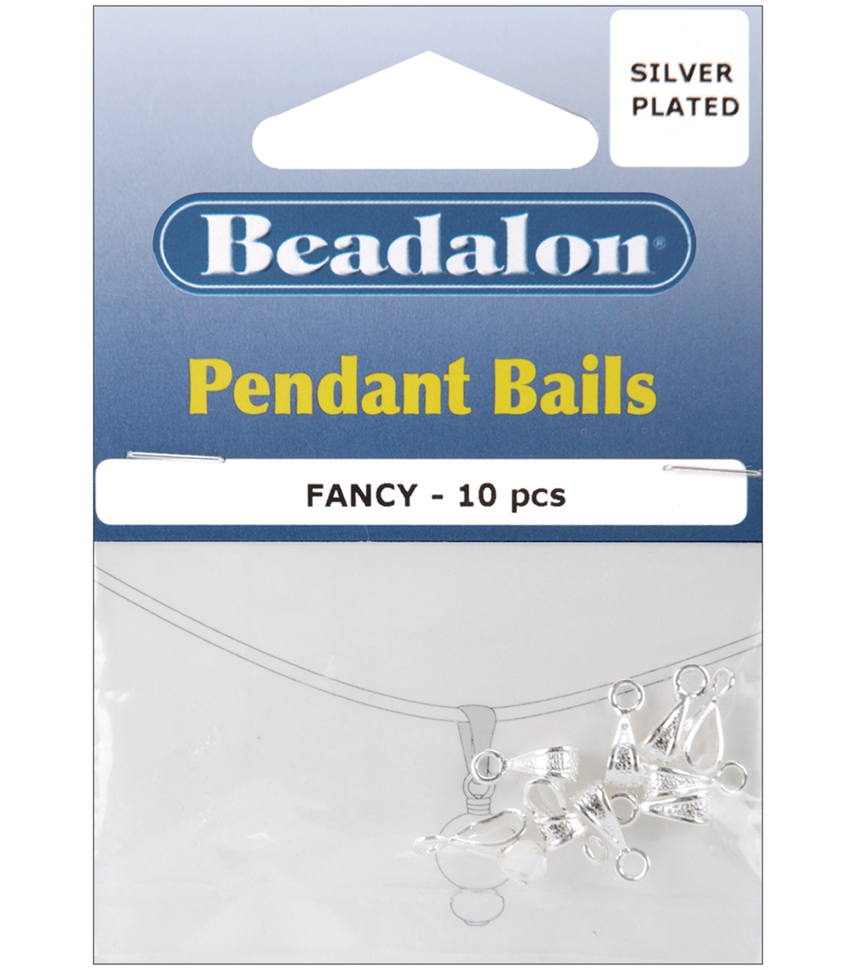 Beadalon Pendant Bails Fancy 3.5\u0022 10PK-MANY COLORS