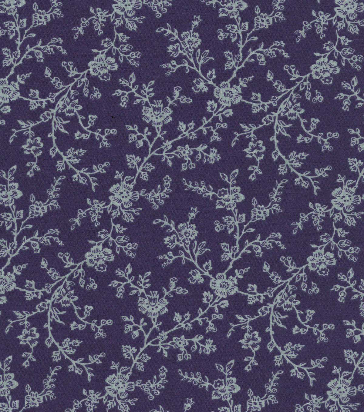 Quilter\u0027s Showcase™ Cotton Fabric 44\u0022-Grape Gray Floral Vines