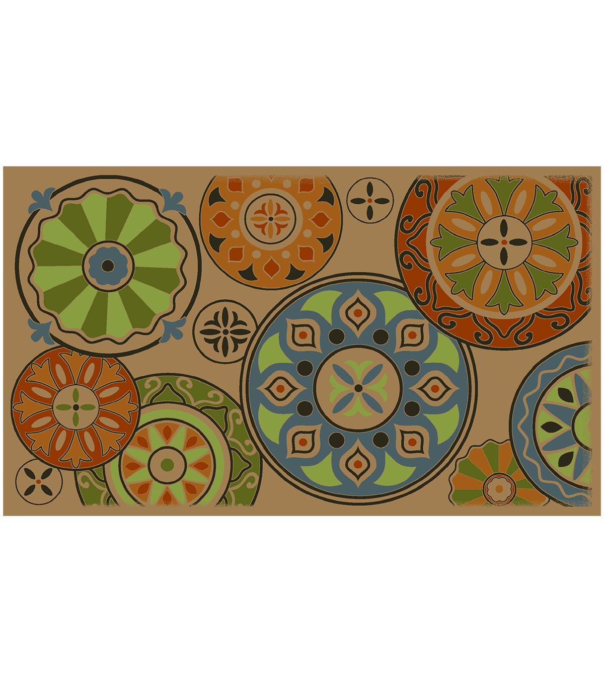 Mohawk Home 18''x30'' Doormat-Layers Of Medallions