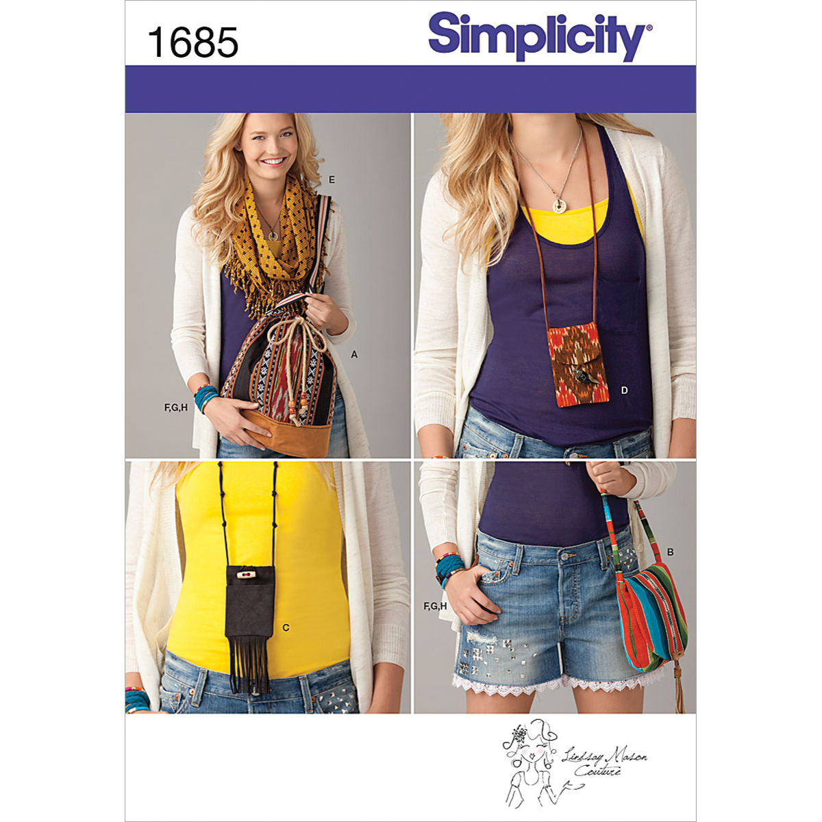 Simplicity Pattern 1685OS One Size -Simplicity Crafts Ac