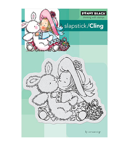 Penny Black Cling Stamp Bunny Kisses