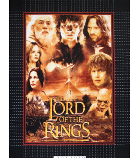 No Sew Fleece Throw 48\u0022-Lord Of The Rings
