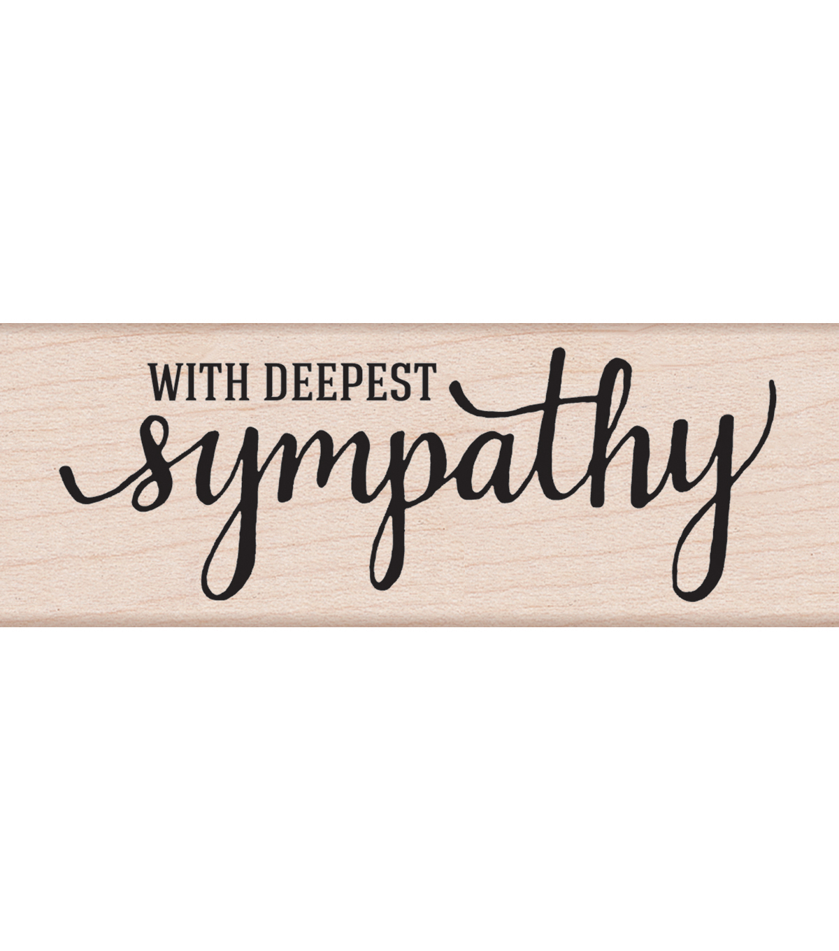 Hero Arts With Deepest Sympathy Mounted Rubber Stamp