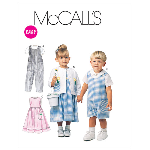 McCall\u0027s Pattern M6304 Toddler Casual-Size 1-2-3