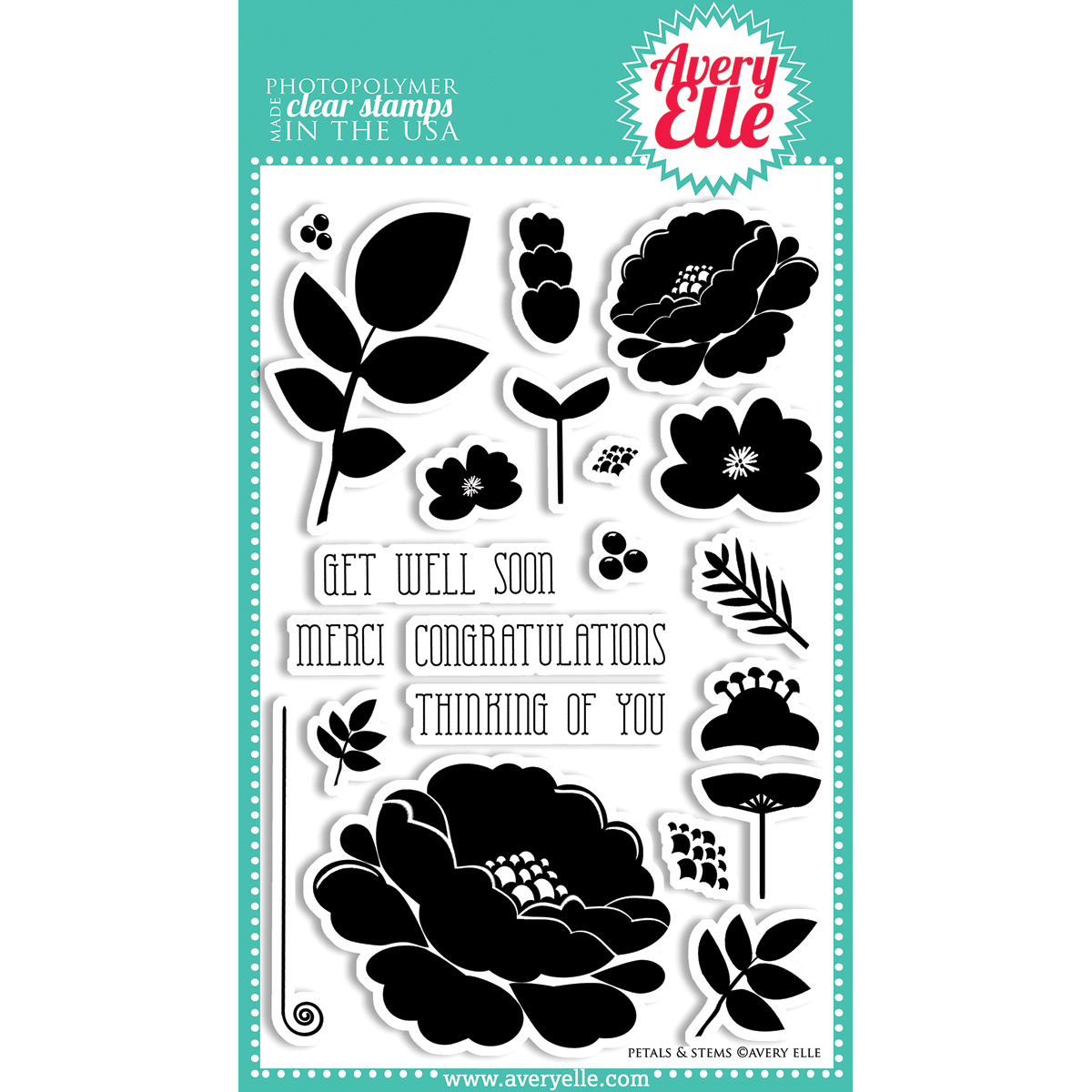 Avery Elle Clear Stamp Set Petals & Stems