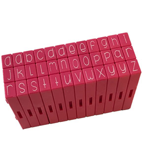 Pink & Main 36 pk Curvy Girl Clickable Font Stamps-Lowercase Alphabet