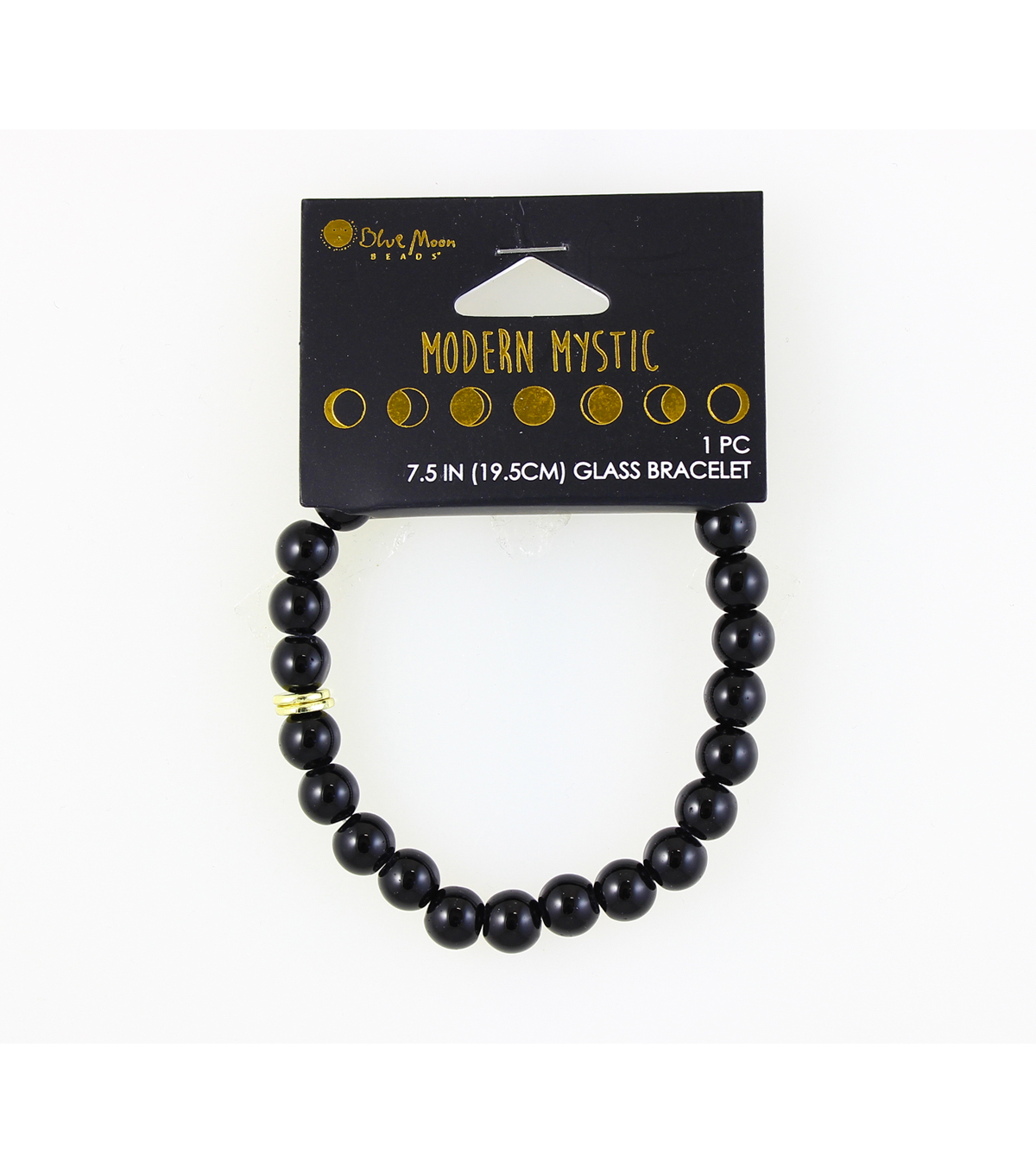 Blue Moon Beads® Modern Mystic Glass Bracelet-Gold & Black