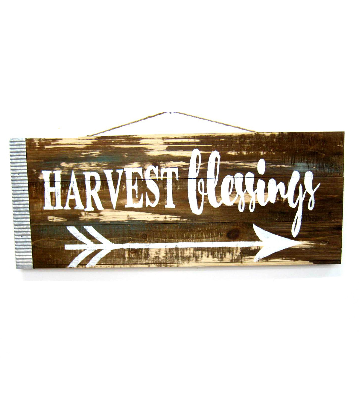 Fall Into Color Wood Harvest Blessing Wall Decor