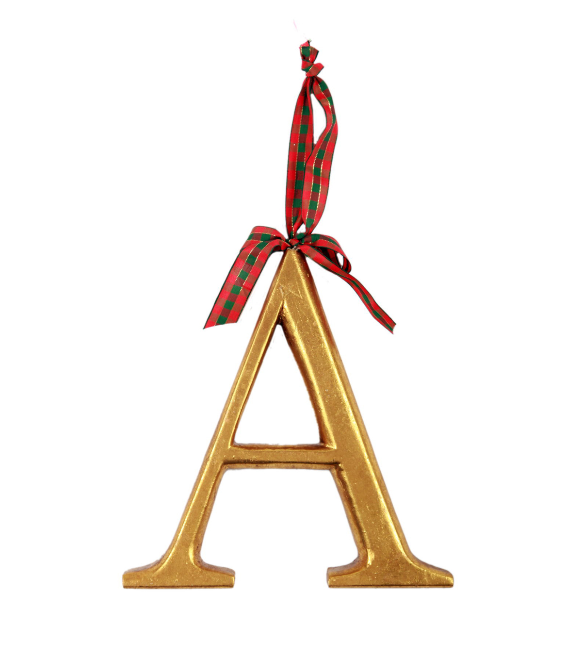 Holiday Cheer Resin Letter Ornament