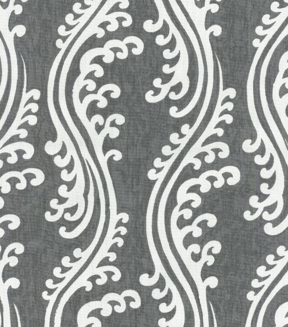 Home Decor 8\u0022x8\u0022 Swatch Fabric-Waverly Turning Tides Noir