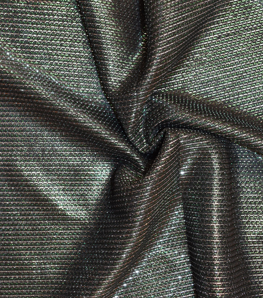 "Metallics Mesh Fabric 58""-Evergreen"