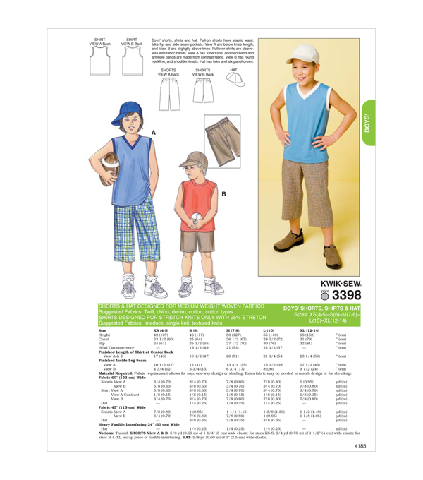 Kwik Sew Boys Casual-K3398