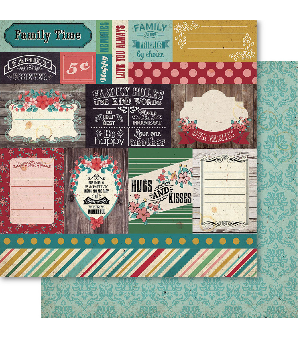 Bella! Family Double-Sided Cardstock-Family Time