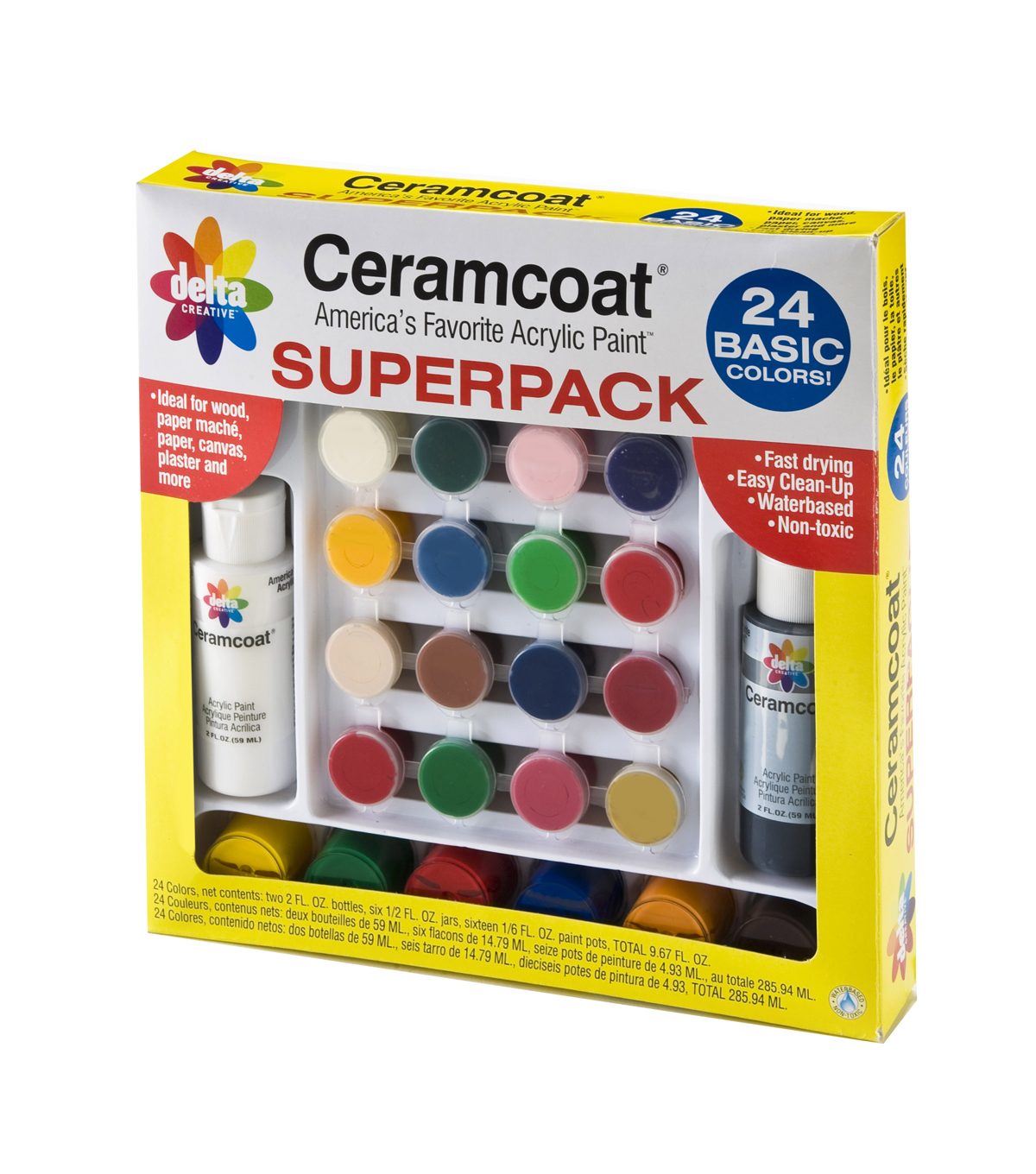 Ceramcoat Acrylic Paint Superpack Basic Colors