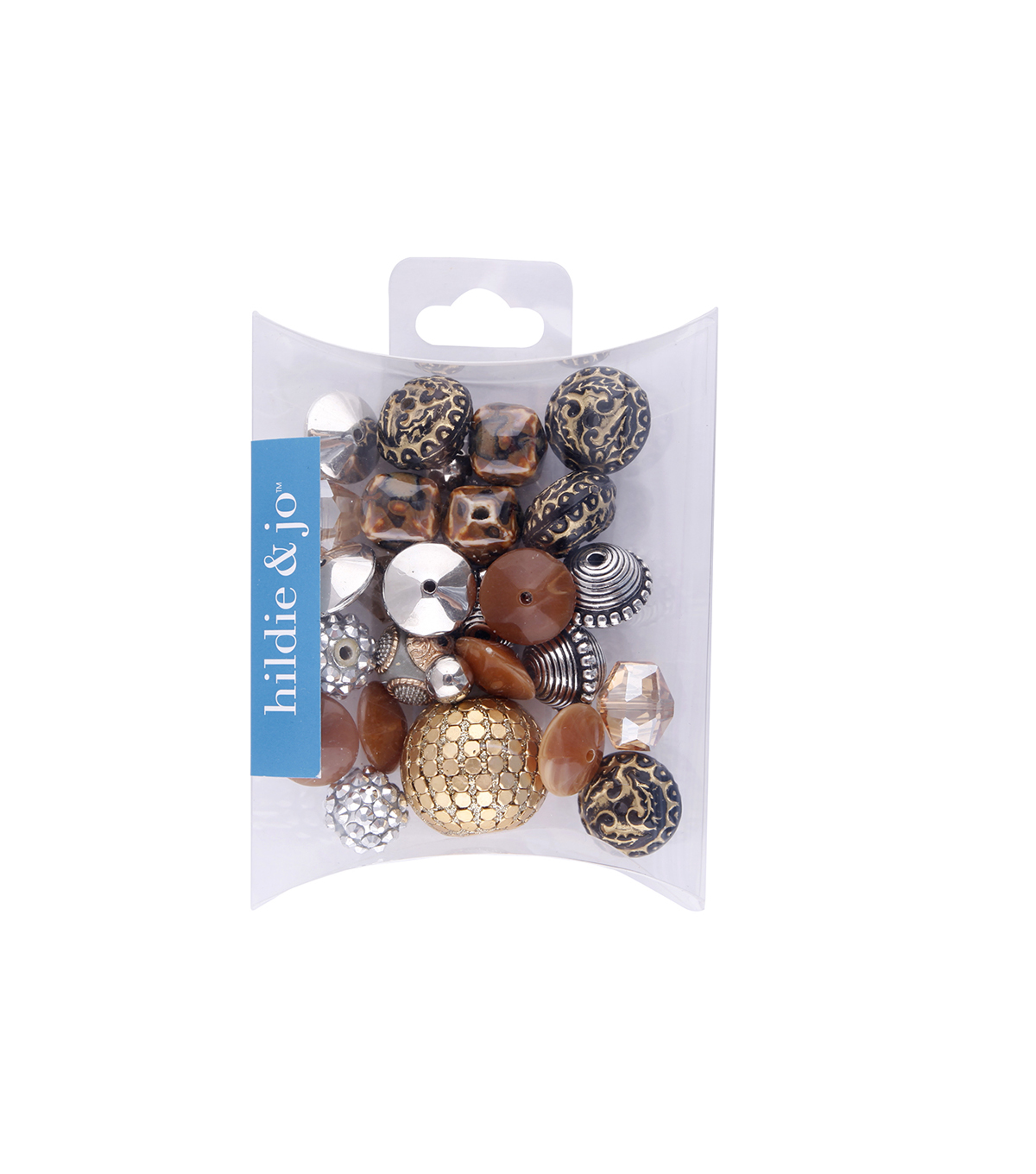 hildie & jo™ Mix Beads-Brown & Gold