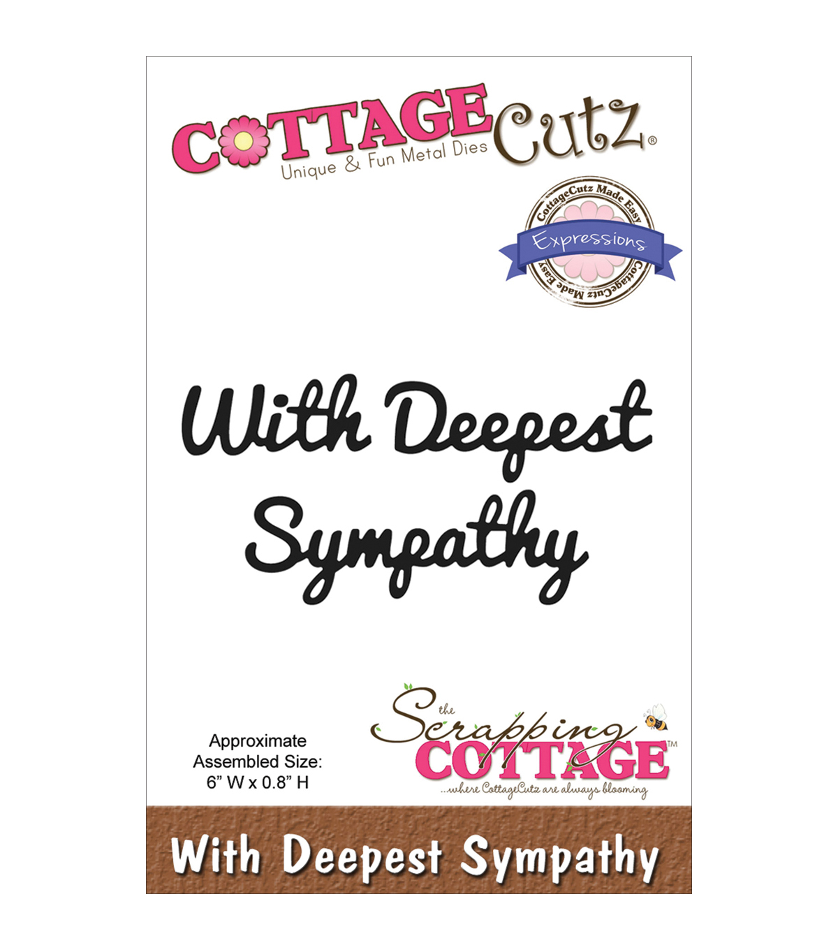 CottageCutz Expressions With Deepest Sympathy Die