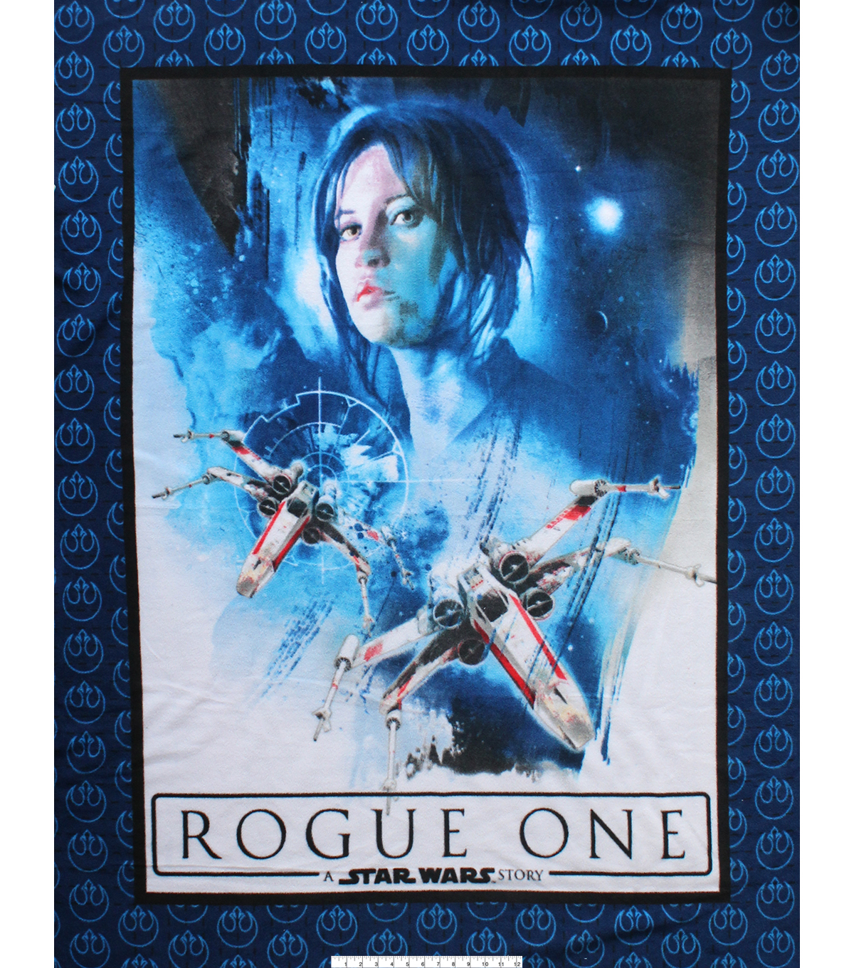 No Sew Fleece Throw 48\u0022-Jyn & X-Wing