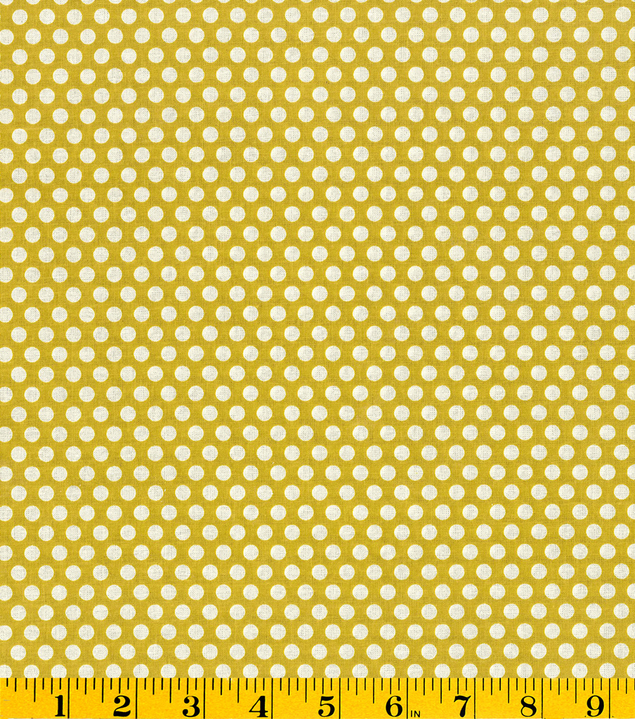 "Made in America Cotton Fabric 44""-Polka Dots Green"