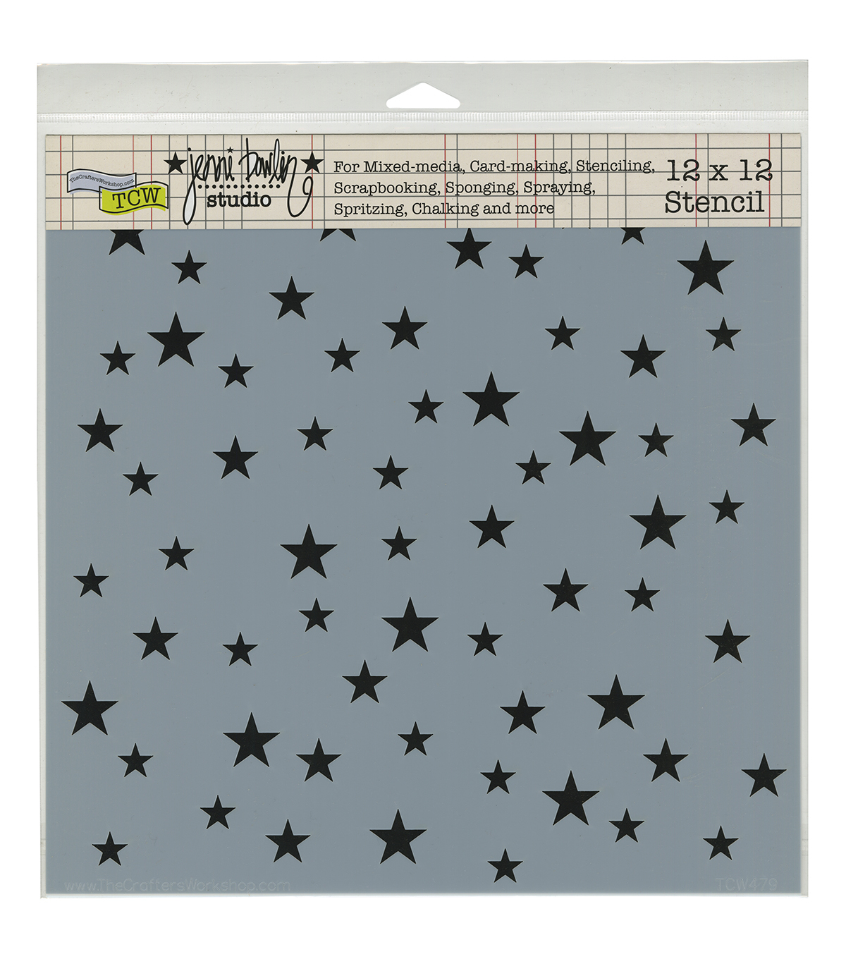 "Crafter's Workshop Template 12""X12""-Random Stars"