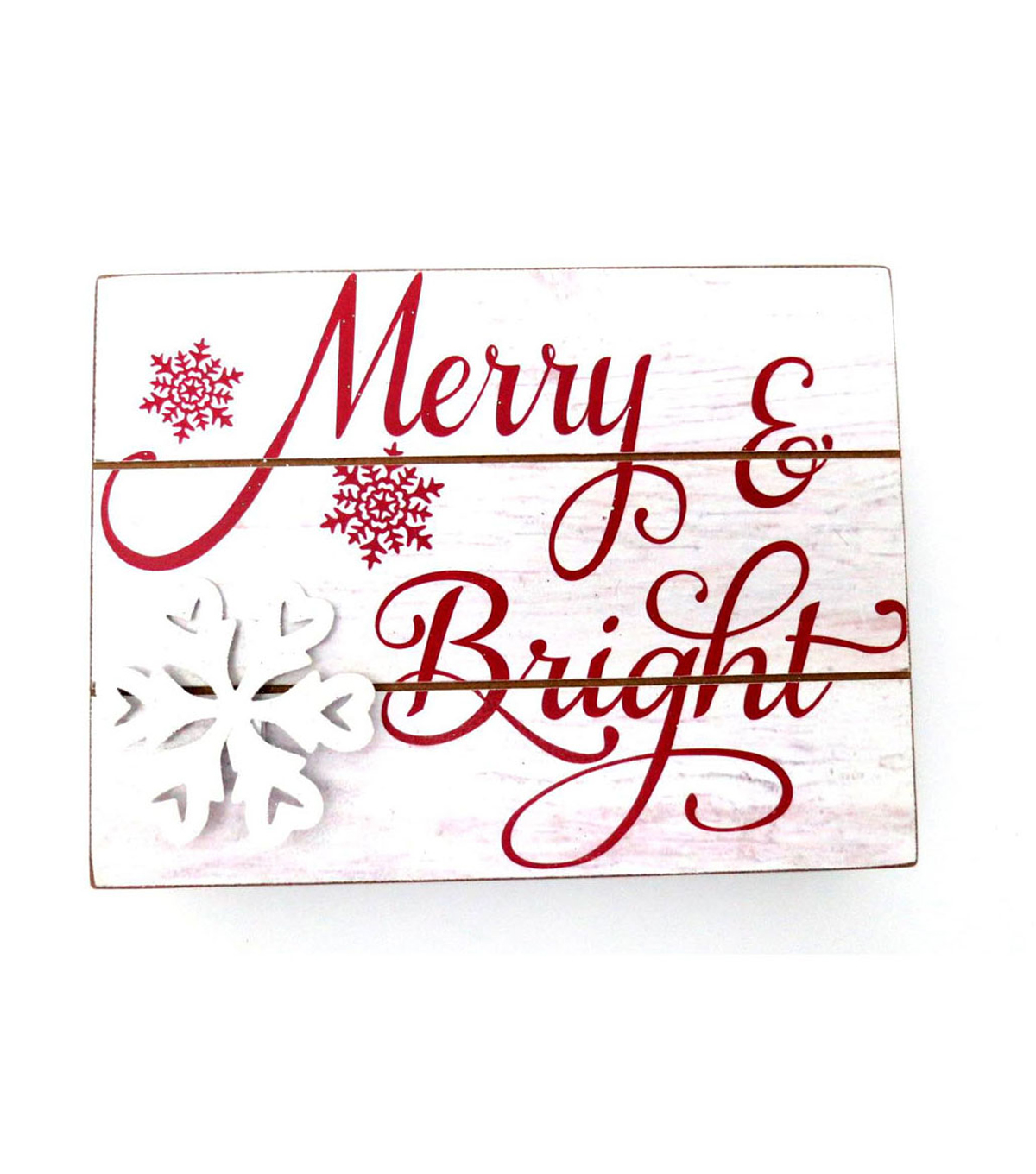 Maker\u0027s Holiday Table Decor Block-Merry Bright