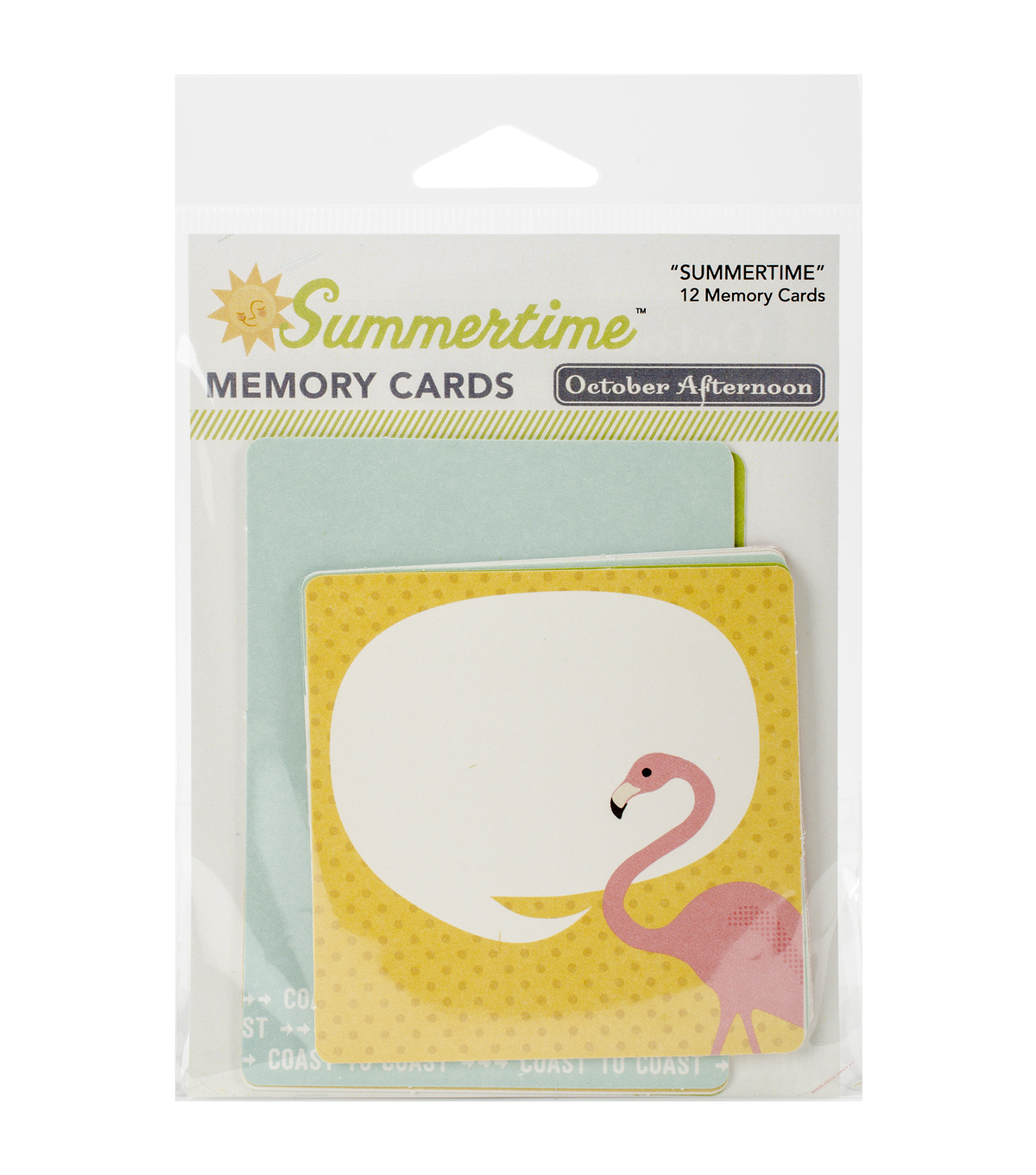 October Afternoon Summertime 12pcs Cardstock Memory Cards