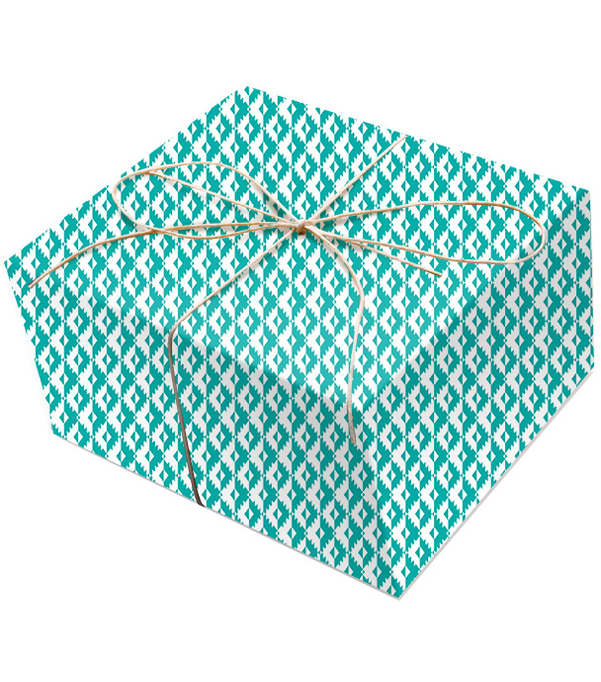K&Company Teal Geo Paper Roll