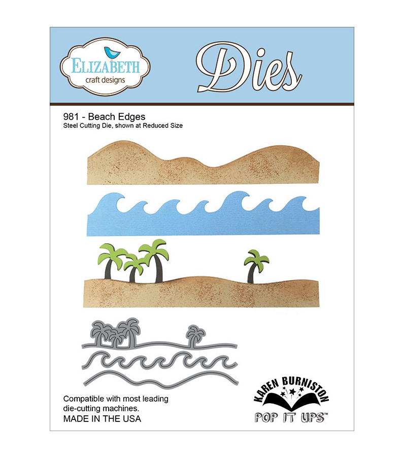 Elizabeth Craft Designs Pop It Up Beach Edges Metal Dies