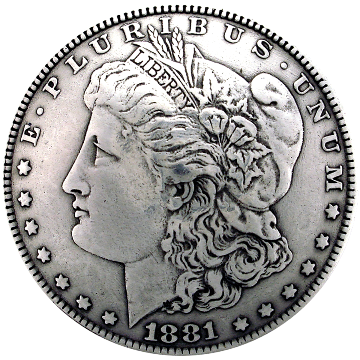Silver Creek Concho Antique Silver Morgan Dollar Heads
