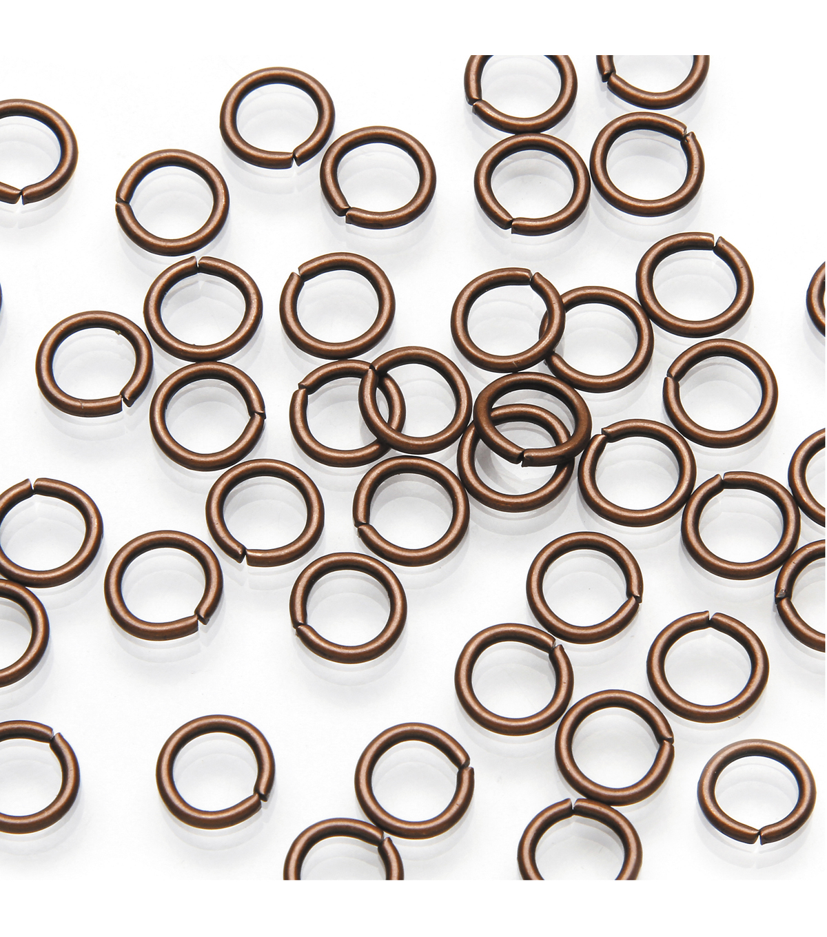 Jump Rings, 6mm Round - Antique Copper Finish