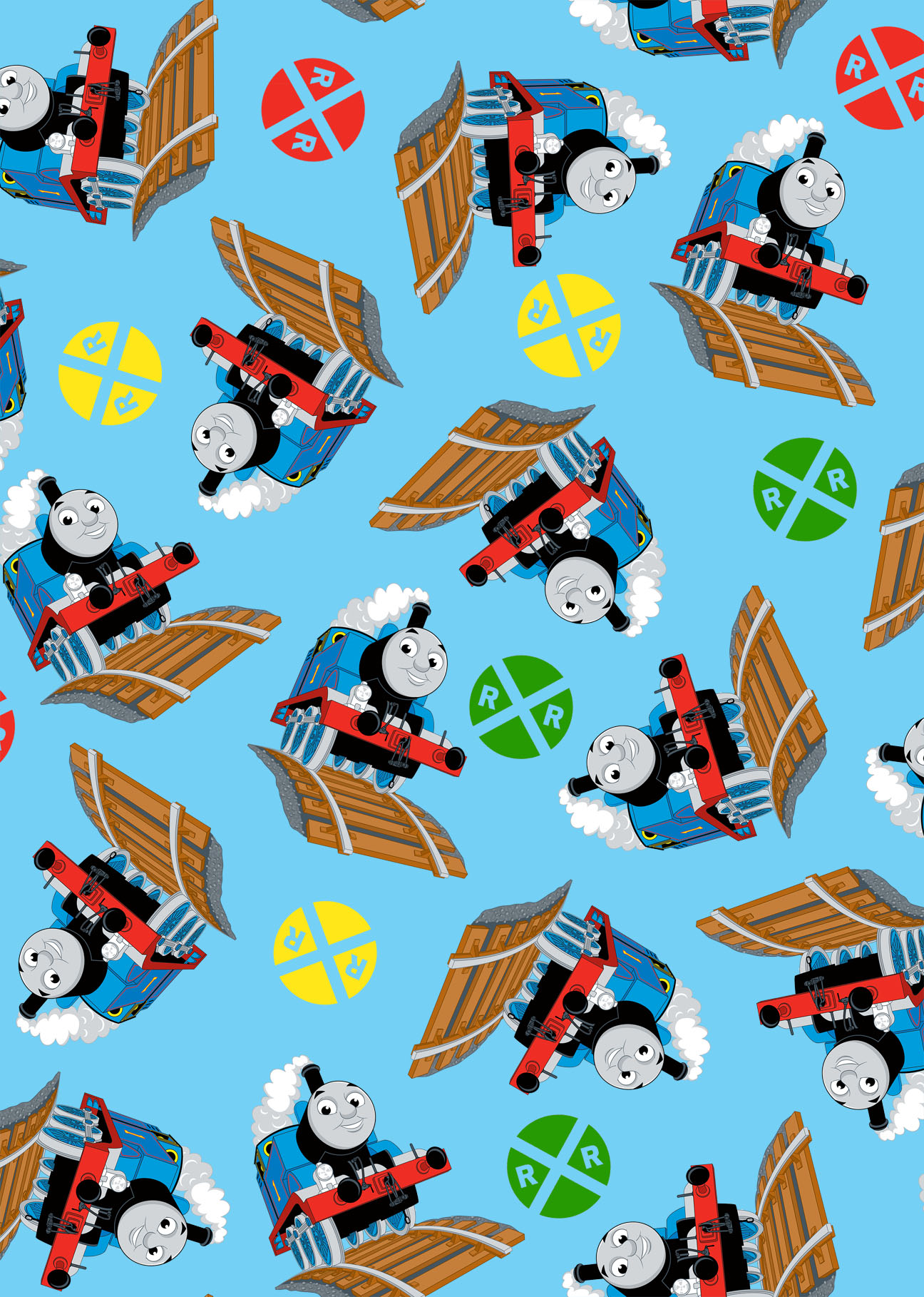 Thomas The Tank Engine Fleece Fabric 59\u0022-Thomas And Signs