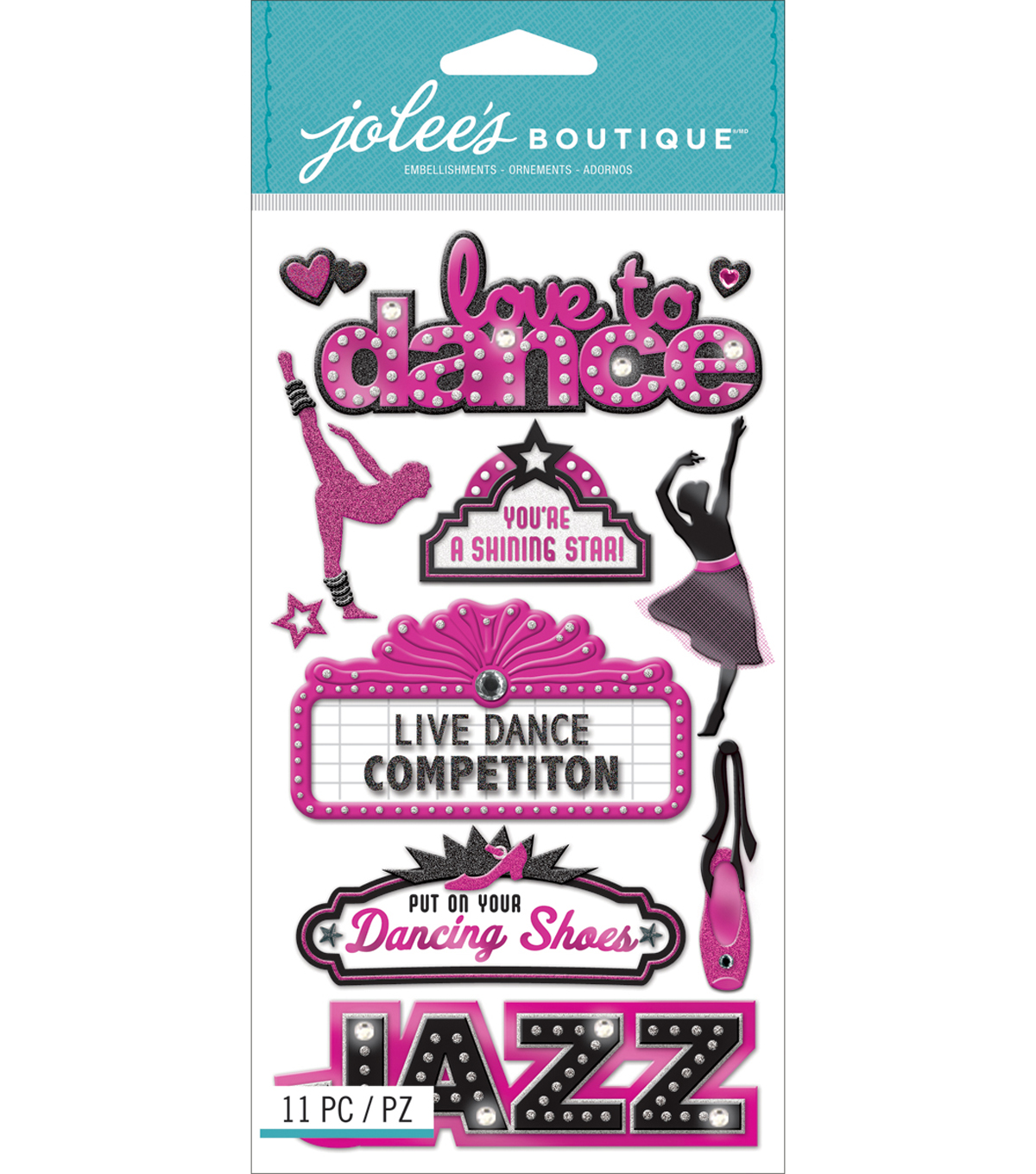 Jolee\u0027s Boutique Dimensional Stickers-Dance