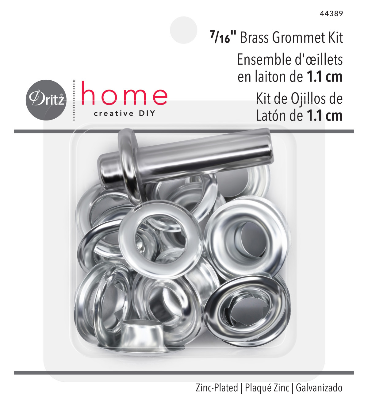 Dritz Home 0.44\u0022 Metal Grommet Kit Silver