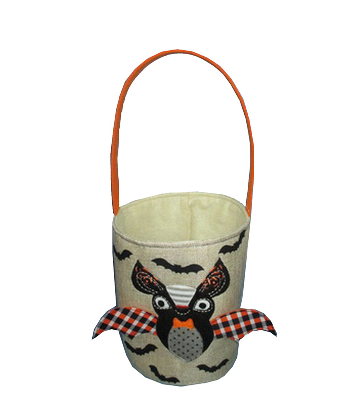 Maker\u0027s Halloween Fabric Treat Bag-Bat