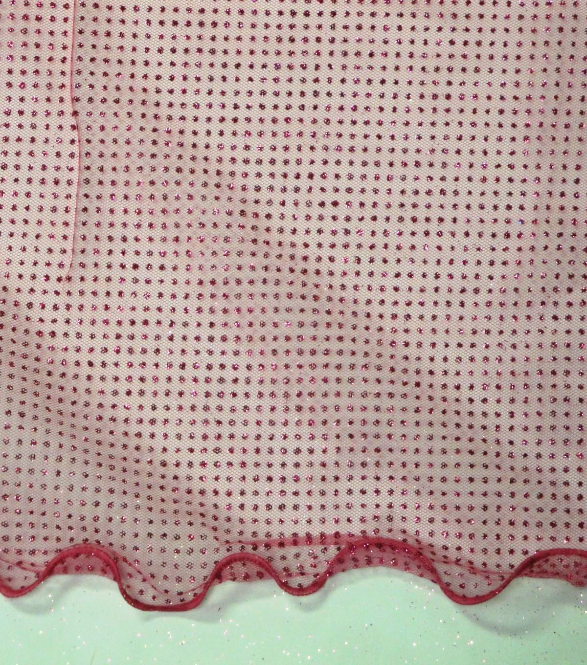 Wired Glitter Tulle Fabric-Fuchsia