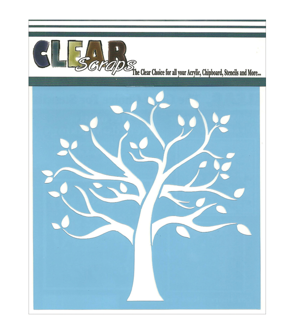 Clear Scraps 12\u0027\u0027x12\u0027\u0027 Stencils-Family Tree