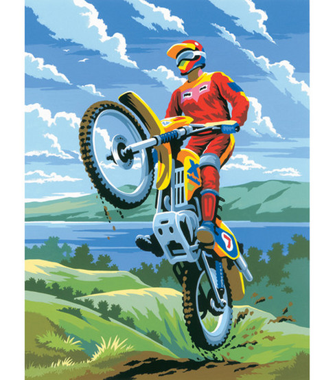 Royal Langnickel Junior Small Paint By Number Kit Motocross
