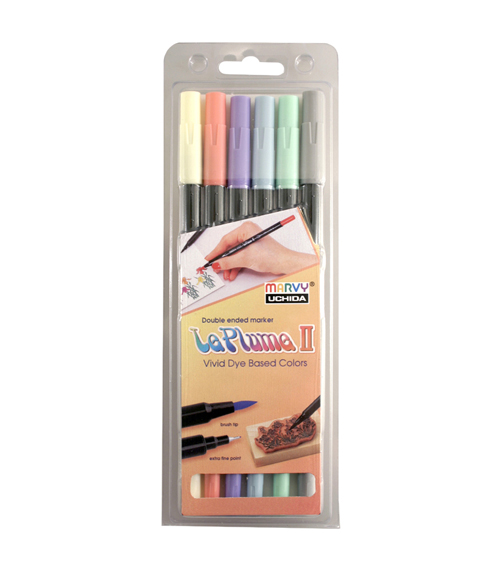 Leplume II 6 Piece Double Ended Marker Set Savannah Colors