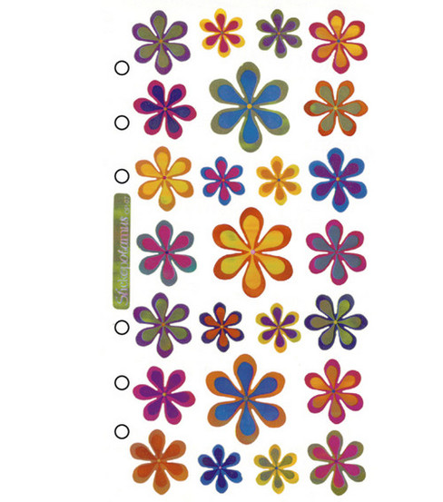Sticko Classic Stickers-Funky Flowers