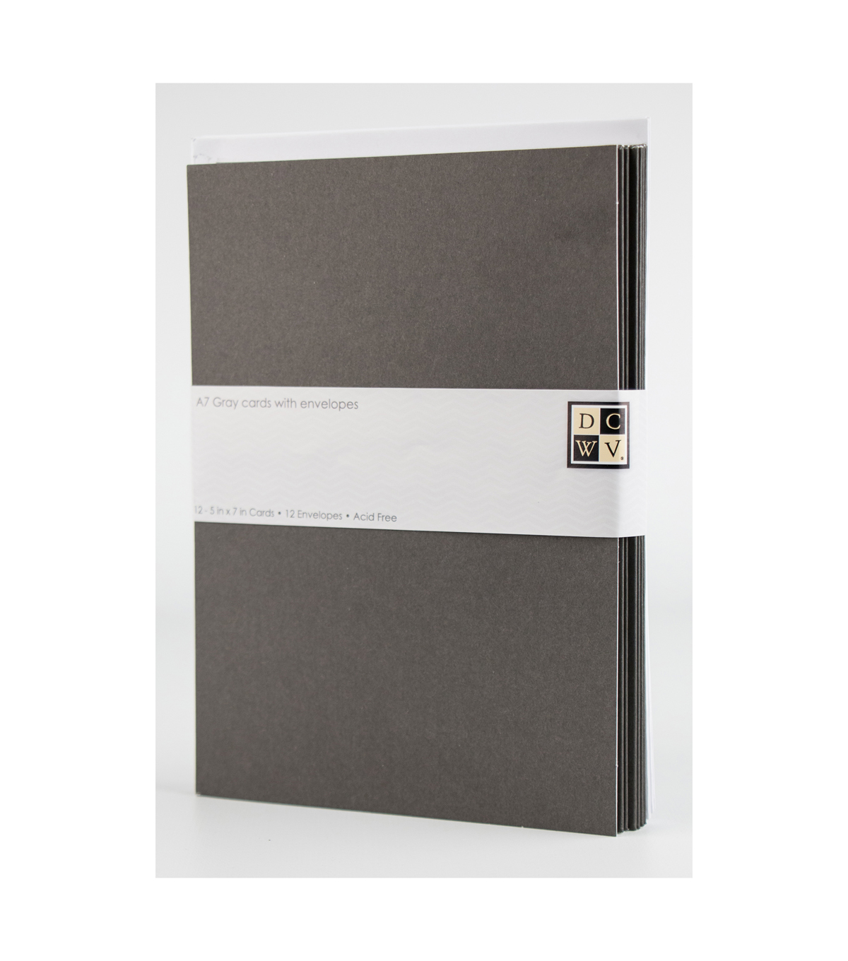 DCWV A7 12 pack card and envelope set: Gray