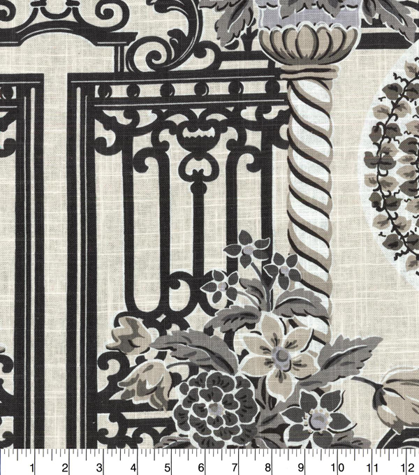 Williamsburg Upholstery Fabric 54\u0027\u0027-Zinc Governor\u0027s Gates