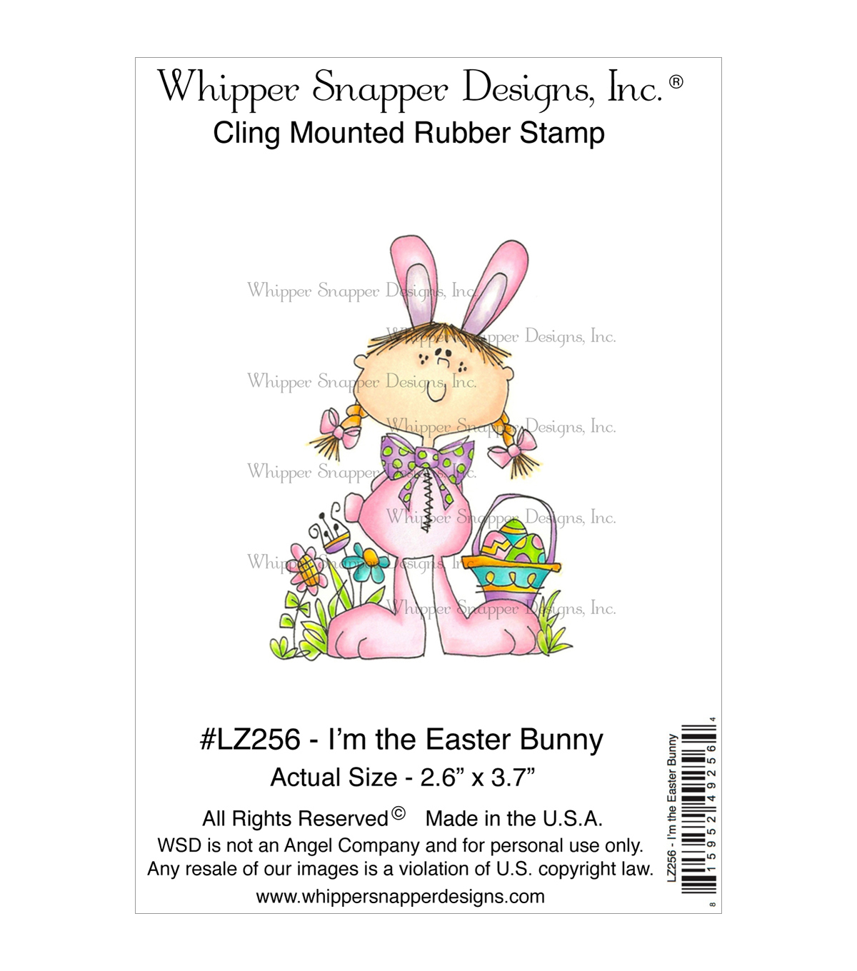 Whipper Snapper Designs Cling Stamp-I'm The Easter Bunny