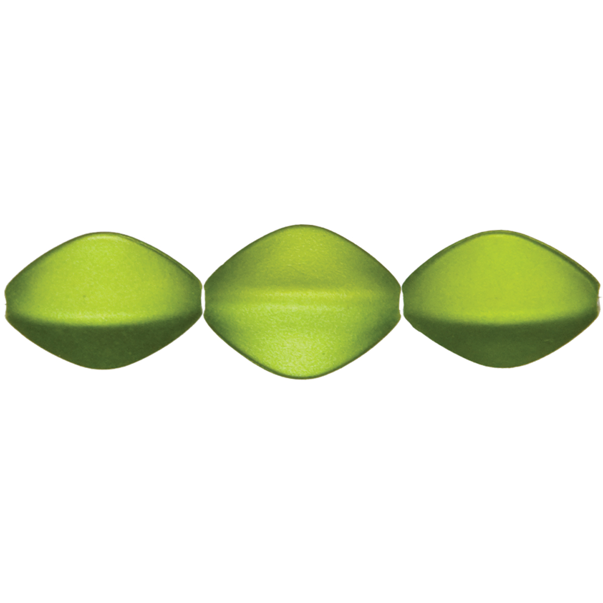 Jewelry Basics Acrylic Beads-Lime Oval 40/Pkg